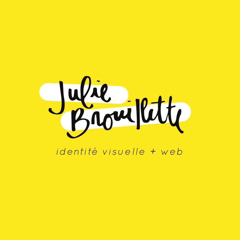 Logo de Julie Brouillette, designer graphique