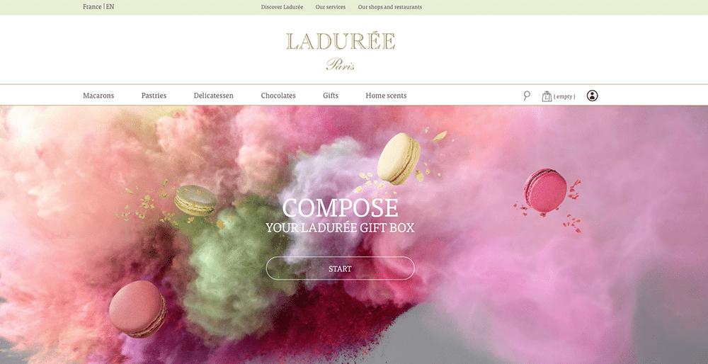 Site web Ladurée