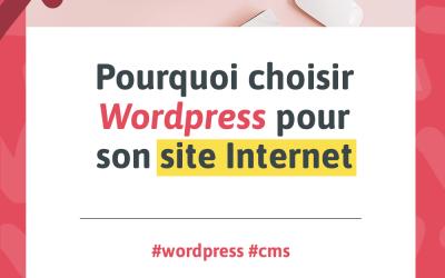 Visuel pour mon article de blogue intitulé « Pourquoi choisir Wordpress pour son site Internet »