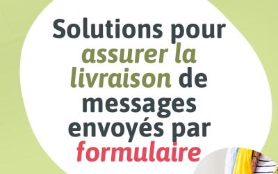 Visuel pour mon article de blogue intitulé « Solutions pour assurer la livraison de messages envoyés par formulaire »