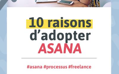 Visuel pour mon article de blogue intitulé « 10 raisons d'adopter ASANA »
