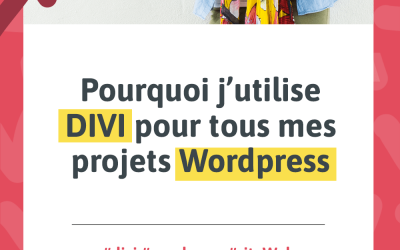 Visuel pour l'article « Pourquoi j'utilise DIVI pour tous mes projets Wordpress »